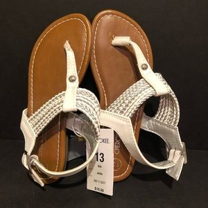 White girls sandals size 13